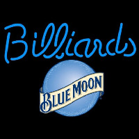 Blue Moon Billiards Te t Pool Beer Sign Neontábla