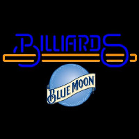 Blue Moon Billiards Te t With Stick Pool Beer Sign Neontábla