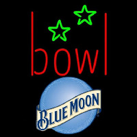 Blue Moon Bowling Alley Beer Sign Neontábla