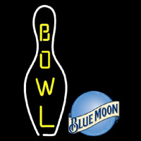 Blue Moon Bowling Beer Sign Neontábla