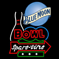 Blue Moon Bowling Spare Time Beer Sign Neontábla