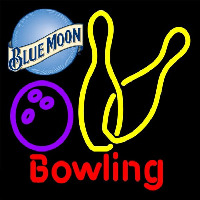 Blue Moon Bowling Yellow 16 16 Beer Sign Neontábla