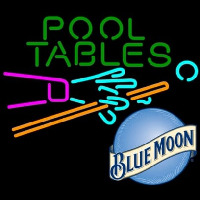 Blue Moon Pool Tables Billiards Beer Neontábla
