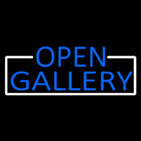 Blue Open Gallery With White Border Neontábla