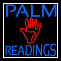 Blue Palm Readings With Red Palm Neontábla
