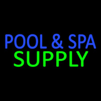 Blue Pool And Spa Green Supply Neontábla