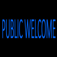 Blue Public Welcome Neontábla