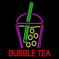 Bubble Tea With Glass Neontábla