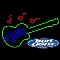 Bud Light Blues Guitar Beer Sign Neontábla