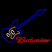 Budweiser Blue Electric Guitar Neontábla