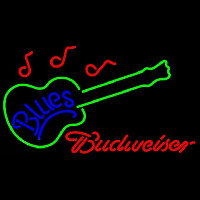 Budweiser Blues Guitar Beer Sign Neontábla