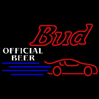 Budweiser Offical Nascar 2 Beer Sign Neontábla