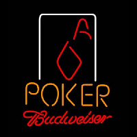Budweiser Poker Squver Ace Neontábla
