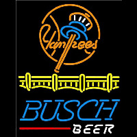 Busch Beer New York Yankees Beer Sign Neontábla