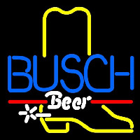 Busch Cowboy Boot Beer Sign Neontábla