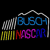 Busch Nascar mountain Beer Sign Neontábla