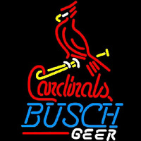 Busch St Louis Cardinals Bat Perch Beer Sign Neontábla