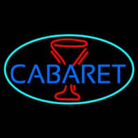 Cabaret With Wine Glass Neontábla