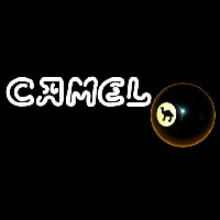 Camel Cigarettes Billiard Ball Neontábla