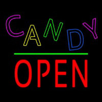 Candy Block Open Green Line Neontábla