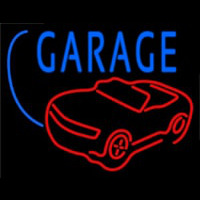 Car Logo Garage Block Neontábla