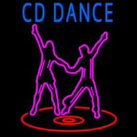 Cd With Dancing Couple Neontábla