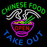 Chinese Food Open Take Out Neontábla