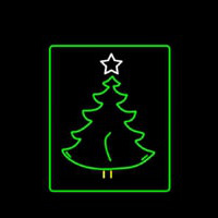 Christmas Tree Logo Neontábla