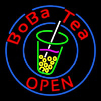 Circle Boba Tea Neontábla