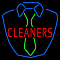 Cleaners Shirt Logo Neontábla