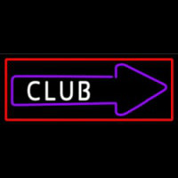 Club With Arrow Neontábla