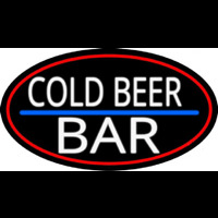 Cold Beer Bar Neontábla
