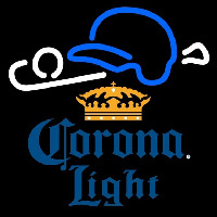 Corona Light Baseball Beer Sign Neontábla