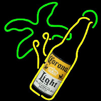 Corona Light Bottle Beer Sign Neontábla