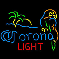 Corona Light Palm Tree Parrot Beer Sign Neontábla