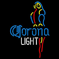 Corona Light Parrot Beer Sign Neontábla