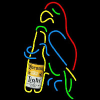 Corona Light Parrot Bottle Beer Sign Neontábla