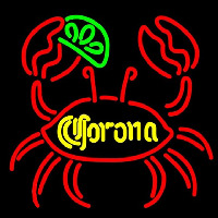 Corona Lime Crab Beer Sign Neontábla