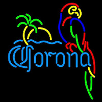 Corona Parrot with Palm Beer Sign Neontábla