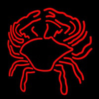 Crab Block With Logo Neontábla