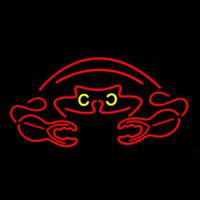 Crab Red Logo 2 Neontábla