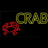 Crab With Logo 1 Neontábla