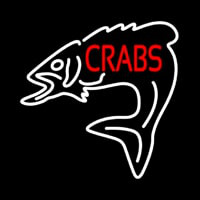 Crabs With Fish Logo Neontábla