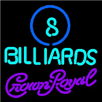 Crown Royal Ball Billiards Pool Beer Sign Neontábla
