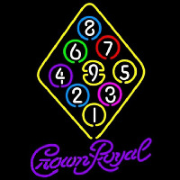 Crown Royal Ball Billiards Rack Pool Beer Sign Neontábla