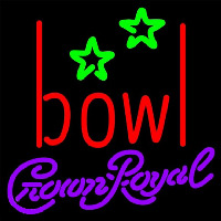 Crown Royal Bowling Alley Beer Sign Neontábla