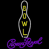 Crown Royal Bowling Beer Sign Neontábla