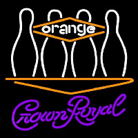 Crown Royal Bowling Orange Beer Sign Neontábla