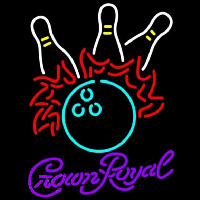Crown Royal Bowling Pool Beer Sign Neontábla