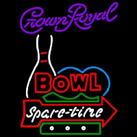 Crown Royal Bowling Spare Time Beer Sign Neontábla